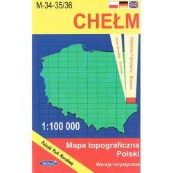 Chełm. Mapa topograficzna Polski 1:100 000