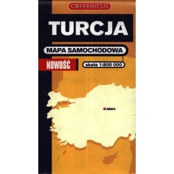 Turcja. Mapa samochodowa