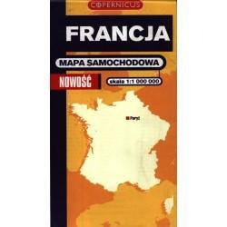 Francja. Mapa samochodowa 1:1 000 000