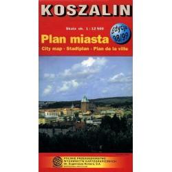 Koszalin. Plan miasta