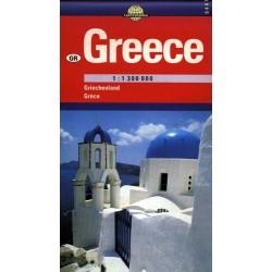 Grecja. Mapa samochodowa 1:1 300 000