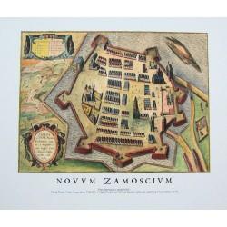 Plan Zamościa z około 1605 r.