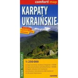 Karpaty Ukraińskie. Mapa laminowana 1:250 000