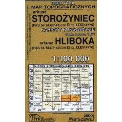 Storożyniec / Hliboka. Reedycja map topograficznych 1:100 000