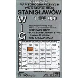 Stanisławów. Reedycja map topograficznych WIG 1:100 000