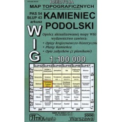 Kamieniec Podolski. Reedycja map topograficznych WIG 1:100 000