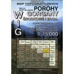 Porohy. Reedycja map topograficznych WIG 1:75 000