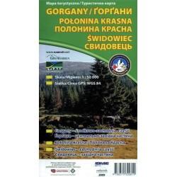 Gorgany, Połonina Krasna, Świdowiec. Mapa turystyczna 1:50 000
