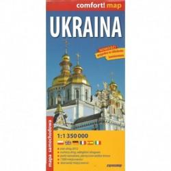 Ukraina 1:1 350 000 mapa samochodowa.