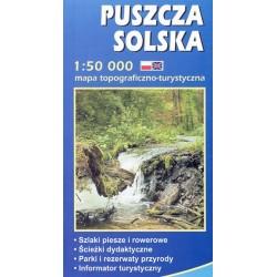 Puszcza Solska, mapa topograficzno-turystyczna 1:50 000