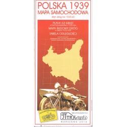 Polska 1939 Mapa samochodowa