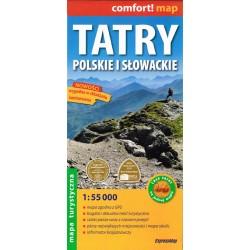 Tatry polskie i słowackie 1:55 000 laminowana