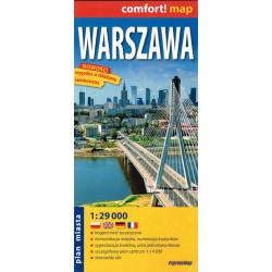 Warszawa 1:29 000 laminowana