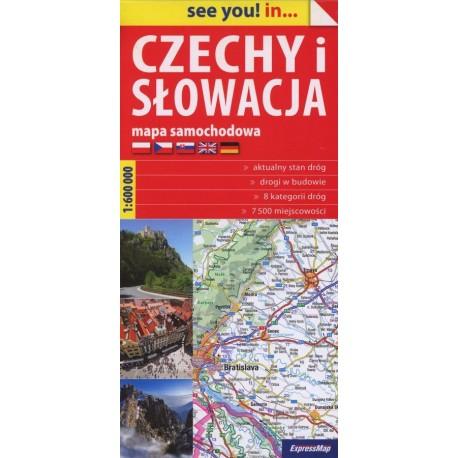 Czechy i Słowacja. Mapa samochodowa