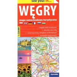 Węgry mapa samochodowo-turystyczna
