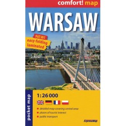 Warszawa 1:26 000 laminowana