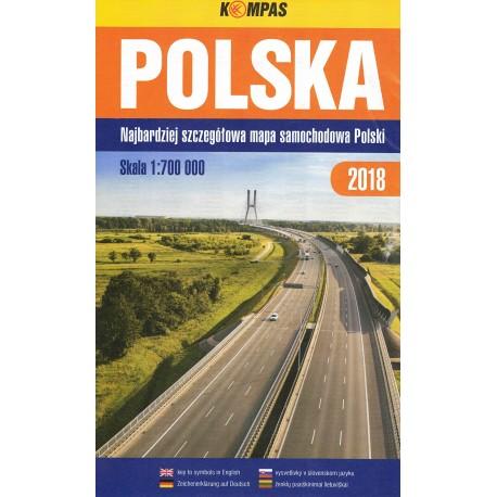 Polska atlas samochodowy 1:700000