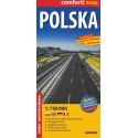 Polska mapa samochodowa 1:750 000 laminowana