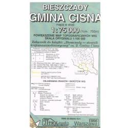 Bieszczady Gmina Cisna 1:75 000
