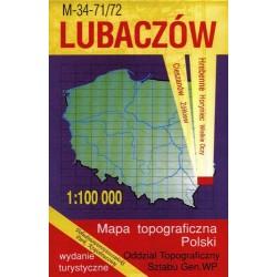 Lubaczów. Mapa topograficzna Polski 1:100 000