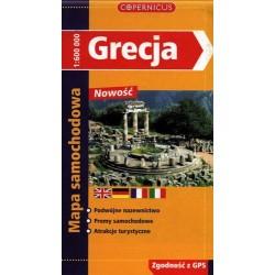 Grecja. Mapa samochodowa 1:600 000