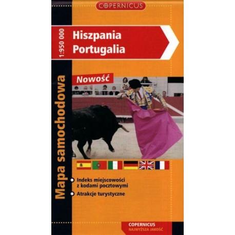 Hiszpania - Portugalia. Mapa samochodowa 1:950 000
