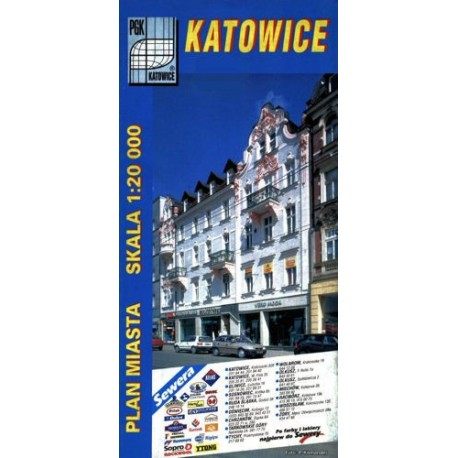 Katowice. Plan miasta