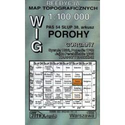Porohy / Rachów / Rafajłowa. Reedycja map topograficznych WIG 1: