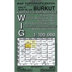 Burkut 1:100 000 Reedycja map topograficznych WIG