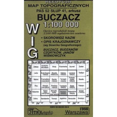 Buczacz. Reedycja map topograficznych WIG 1:100 000