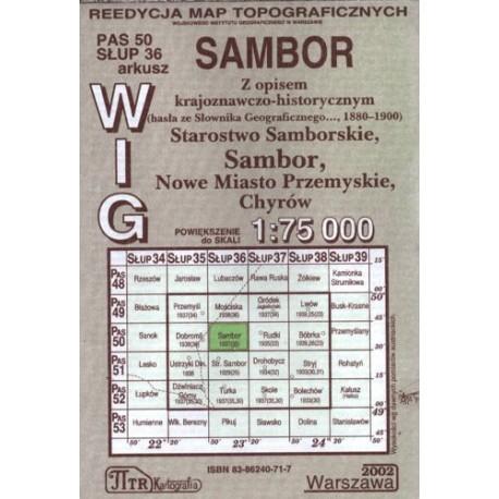 Sambor. Reedycja map topograficznych WIG 1:75 000