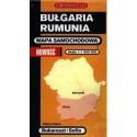 Bułgaria - Rumunia. Mapa samochodowa 1:1 000 000