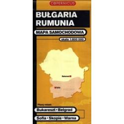 Bułgaria - Rumunia. Mapa samochodowa 1:800 000