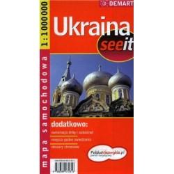 Ukraina. Mapa samochodowa 1:1 000 000