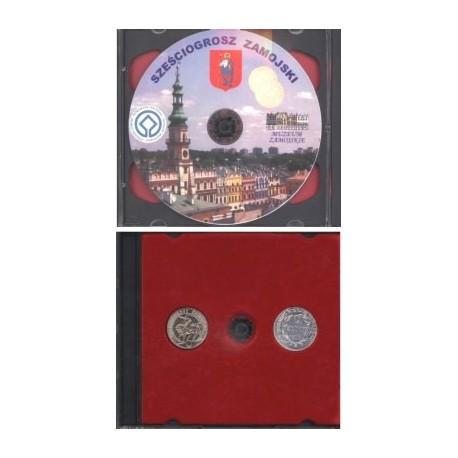 Sześciogrosz zamojski CD + zestaw monet