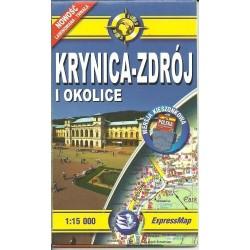 Krynica Zdrój i okolice 1:15 000